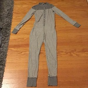 J.Crew Grey Striped Onesie/Union Suit